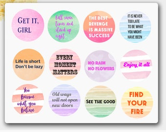 Inspiration Quotes, Erin Condren Quotes,Happy Planner Quotes,Filofax Quotes, Traveler's Notebook,Traveler's Notebook Sticker,Passion Planner