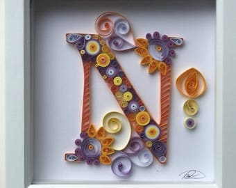 Quilled letter 'N'
