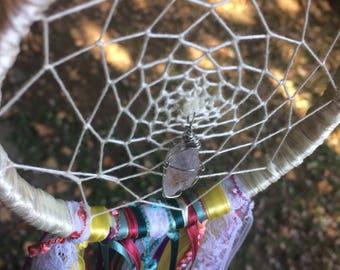 Quartz Bohemian Lace Dream Catcher