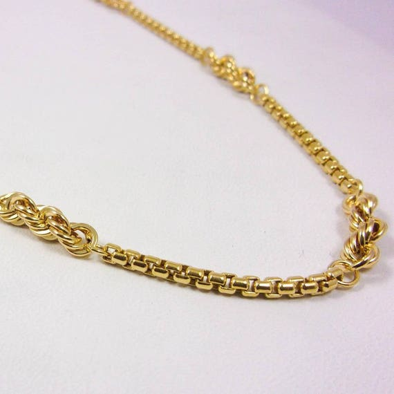"Solid 14K Yellow Gold 18"" 2.5mm Custom Box Rope Link Chain Necklace, 7.3 grams"