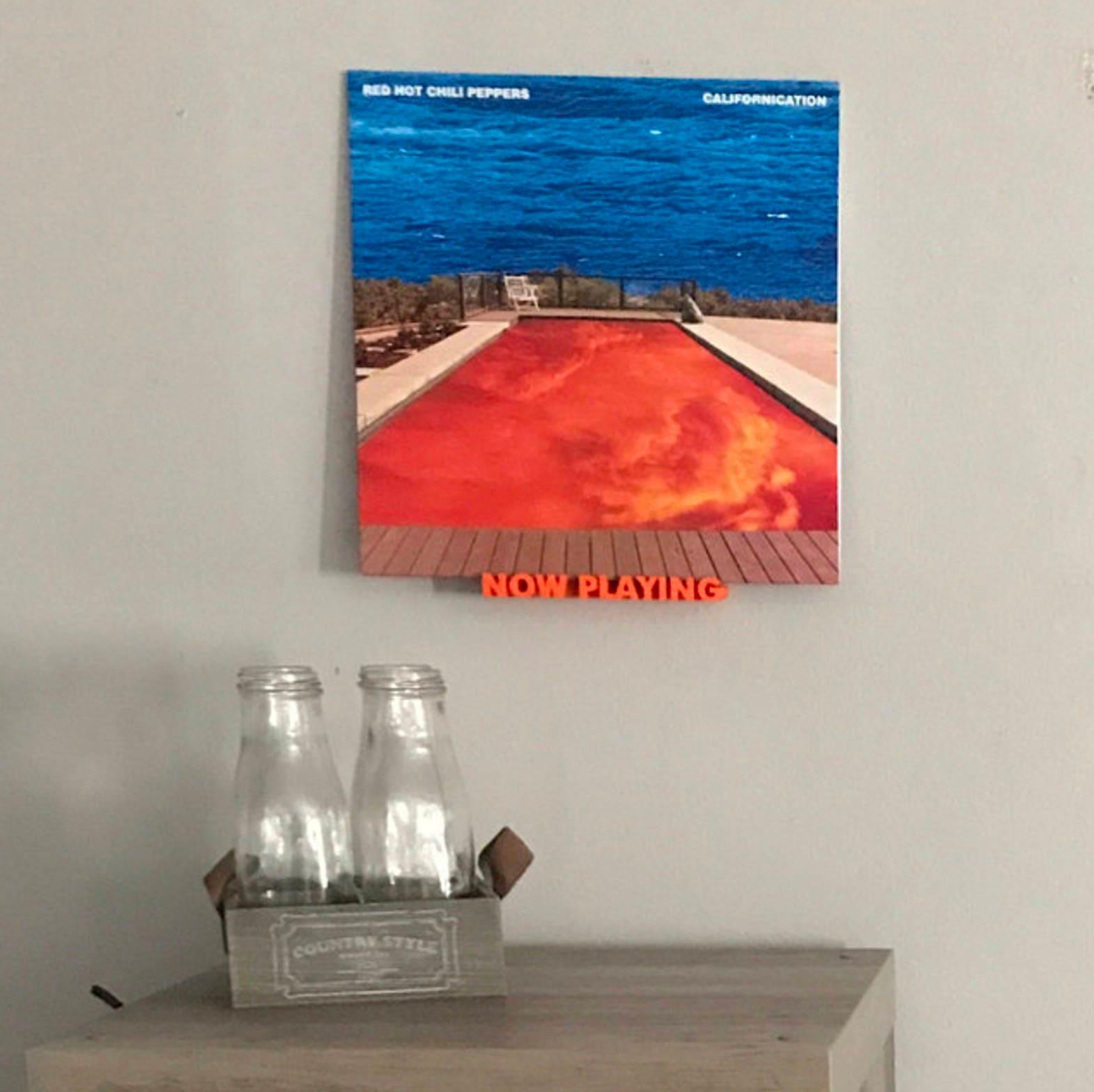 Now Playing Vinyl Record Wall Mount Display Shelf - 3D Printed Wall Art  Decor - Apartment - Vinyl Record Wall Mount Display Shelf 3D Printed Wall Art