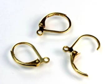 EarClip With Loop, Brass Leverback 6 pair, MT-232T5-Brass