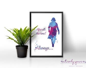Professor Snape | Harry Potter | Always Print