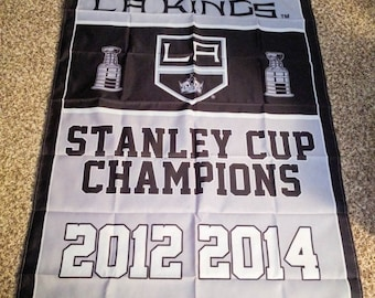 PRE-SEASON SALE 30% Off L.A. Kings Hockey Stanley Cup Championship Banner 3' x 5'