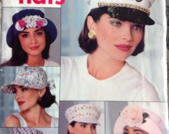 12 fabulous summer hats Butterick sewing pattern