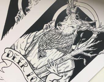 Deer Lord A5 300gsm Print