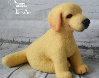 Needle Felt Labrador - felted dog miniature - Labradoodle - Labrador Retriever - Needle Felted Wool - pet lover gift - READY TO SHIP