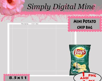 YOU Design!!! Potato chip bag Templates!!