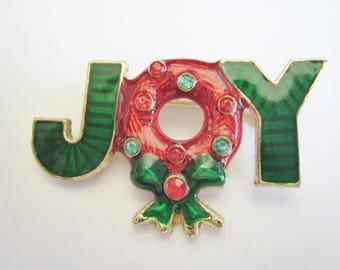Joy Christmas Pin