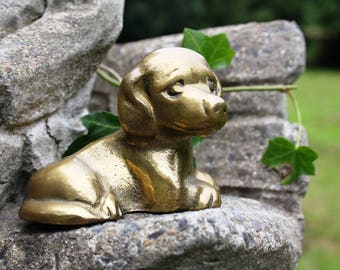 Brass dog, miniature Dog, brass figurine, brass miniature, brass animal, brass miniature, Animal miniature, Brass dog Figurine