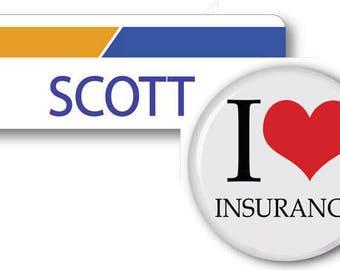 SCOTT From Progressive Insurance Halloween Costume Name Badge Tag magnet Fastener & Button Ships ASAP FREE