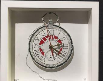 Pocket watch Doodle Clock