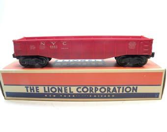 Lionel 6462 New York Central Red Gondola    1949-1957     Vintage O Gauge Train