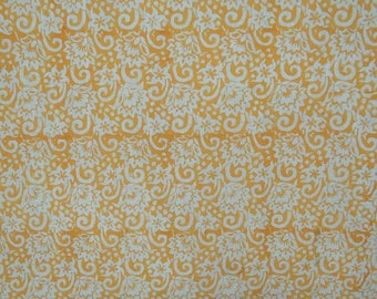 """Decor Fabric, Yellow Fabric, Floral Print, Home Decor Accessories, Indian Fabric, 47"""" Inch Cotton Fabric By The Yard ZBC8195B"""