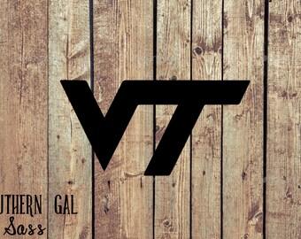 Virginia Tech Vinyl Decal / VT Hokies Sticker / VT Decal