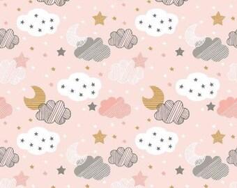 Blend Cloud Fabric, Pink Baby Fabric, Nursery Fabric, 100% Cotton, UK