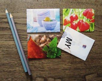 "set of 4 envelopes ""home&living"" Din B8"