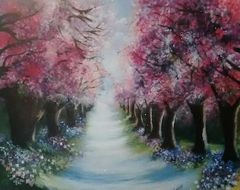 "painting""cherry lane blossom """