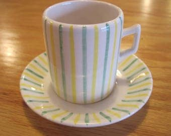 Vintage Espresso Cup Hand Painted in Italy- Item #1565