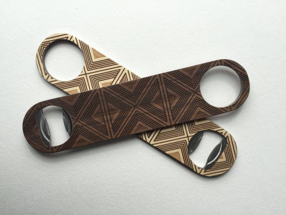 TILES Wood Bottle Opener | Walnut or Maple