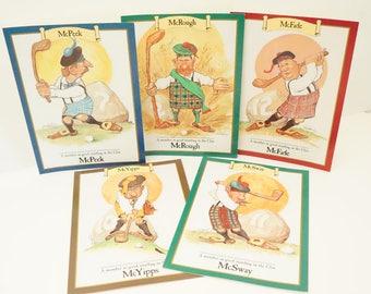 Humorous Golf Card/Vintage Golf Card/Golf Greeting Card/Gremlins Of Golf/Robert Perrizo/Funny Gold Card/Vintage Greeting Card/Golf/Humorous