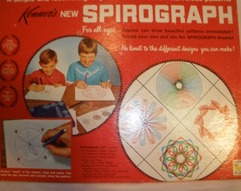 Vintage Spirograph Game Educational Drawing Art 1967 99% Complete