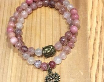 Bracelet made of semi-precious stones