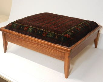Turkmen Carpet Ottoman with Storage