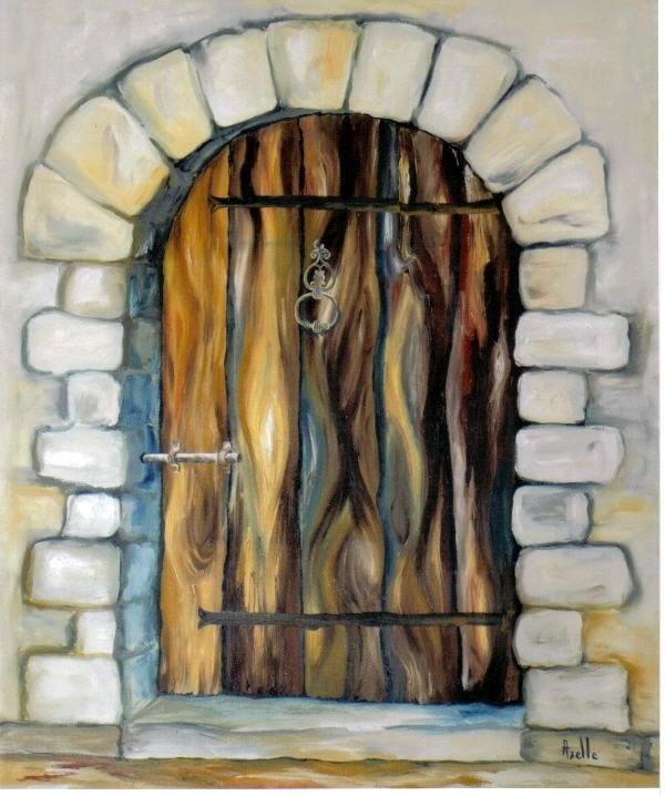 tableau de la porte du peintre axelle bosler huile sur toile. Black Bedroom Furniture Sets. Home Design Ideas