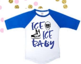 Boys Hockey Shirt, Kids Hockey Shirt, Ice Ice Baby Shirt, Boys Hockey Outfit, Boys Hockey TShirt, Hockey Shirt, Hockey Tshirt, Boys Hockey