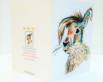 All Occasion Greeting Card 'Bad Hare Day'