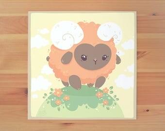 Little Ram Print