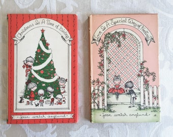 Vintage Joan Walsh Anglund Children's Books Christmas Is a Time for Giving &  Love is a Special Way of Feeling 1960 and 1961 Hardcover Set