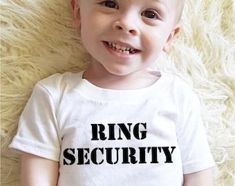 Ring bearer shirt gift for ring bearer ring security shirt ring bearer onesie groomsmen shirts wedding party shirts wedding party men gifts