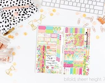 Citrus Splash TN STANDARD Weekly Kit // 120+ Matte Planner Stickers // Perfect for your Standard Size Traveler's Notebook // TNS0760