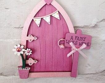Magical Hand Painted Pink Fairy Door