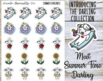 Summer Time Darlings Planner Stickers
