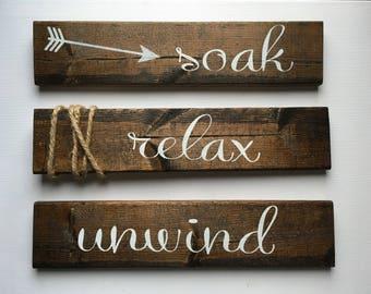 Soak, Relax, Unwind