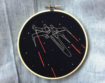 Star Wars X Wing Fighter Hand Embroidery