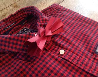 red origami bowtie