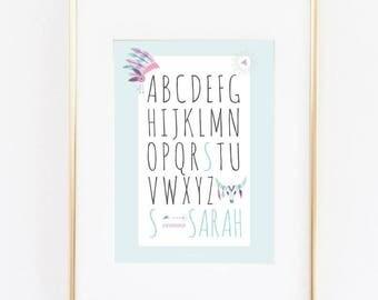 Benutzerdefinierte Poster Mit Den Namen Ihrer Grundierung Kind Baby Geburt Geschenk Dekoration Zimmer Personalisiert Indischen Thema