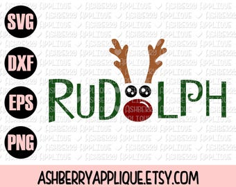 Rudolph Christmas SVG/DXF Cut File - Instant Download - Reindeer - Baby's First Christmas - Holiday - Vector Clipart - Commercial Use