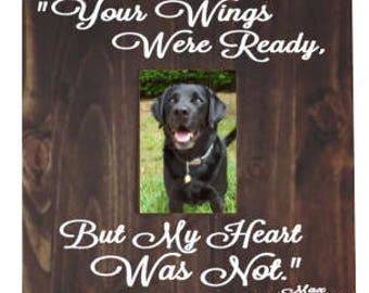 Dog memorial picture frame | Pet memorial frame | Pet picture frame | Dog sympathy frame | Memory Loss of a Pet | Pet loss gift