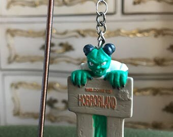 Welcome to Horrorland -  Single Upcyled Earring