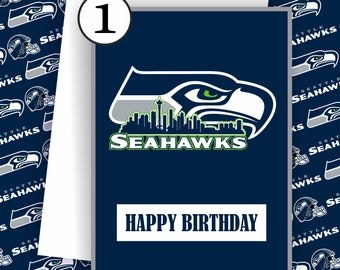 Seattle Seahawks Card - Seahawks Fan, Football Team Card, Seattle Seahawks,Football Greeting Card