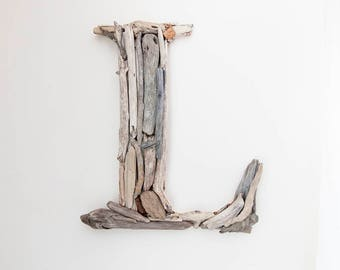 Rustic Home Decor, Farmhouse Decor, Wood Letter, Woodland Nursery, Driftwood Letter, Beach Decor, Country Decor, Gift for Her, Nautical