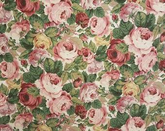 Pink Rose queen size flat sheet