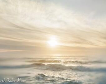Oregon Coast Photograph, Ocean Print, Oregon Beach Print, Beach Sunset Print, Ocean Waves Print, Beach Print