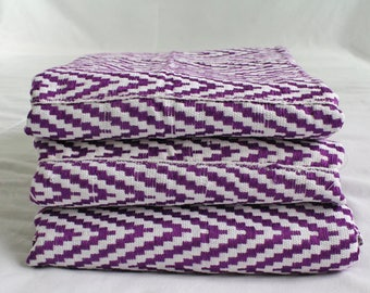 Purple Kente Cloth, Handwoven and Authentic Traditional Ghana Textile, for Clothing and Interiors, Large Pieces, REDUCED TO CLEAR