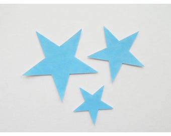 Lot 3 designs-Star Blue leatherette